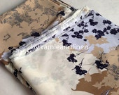 """silk fabric, double georgette mulberry silk fabric, floral print, dress fabric, scarf fabric, one yard by 52"""" wide"""