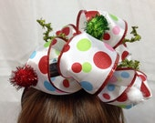 Grinch inspired Christmas holiday headband fascinator