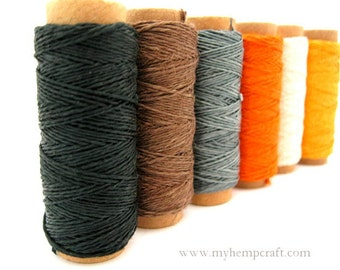 Hemp Thread, Harvest Colors o.2mm Hemp Craft Embroidery Thread