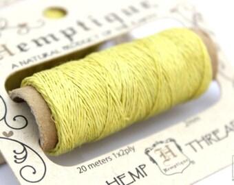 Thin Hemp Thread, Sunny Yellow o.2mm Hemp Cord