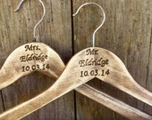 Personalized Wedding Dress Hangers (Set of 2) - GoRustic Designs