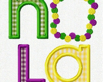 Mardi Gras Ladder Embroidery Design
