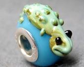 1Pc.925 Murano Glass Bead Fit European Charm Bracelet Gecko 16mm x 15mm x 10mm  jaz448