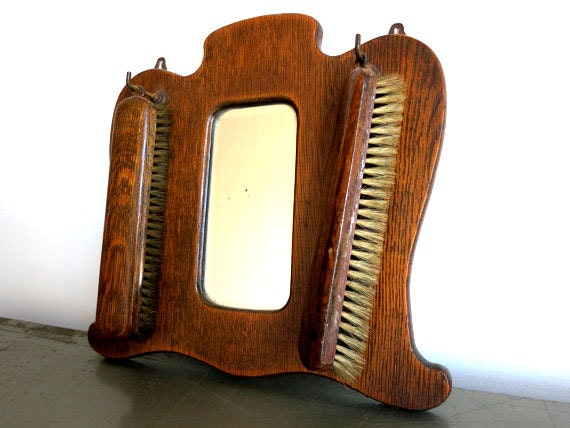 Antique Mirror with Brushes