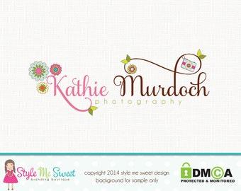 photography logo - camera logo design flower logo design florist logo design premade logo design graphic design  photographers logo branding