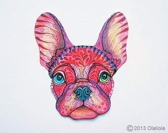 French Bulldog pet sticker, 100% waterproof vinyl label.