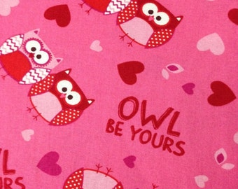 Owl Be Yours - Cotton quilting fabric - 34 inches - End of Bolt