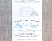 Monmouth Plantation Sketch Save the Date