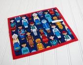 Chalkboard Mat Reusable Art Toy, Homeschool Writing Mat, Children Around The World