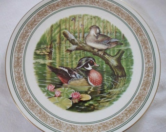 1985 Royal Worcester 'Water Birds Of North America' Collector's Plate WOOD DUCKS