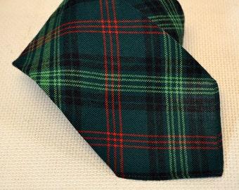 1970s Lochcarron Wool Tartan Necktie