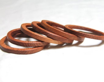 2.75 inch - ONE  stacking wood bangle in OAK