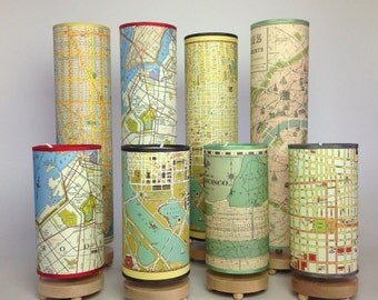Map Lamp tall table lamp