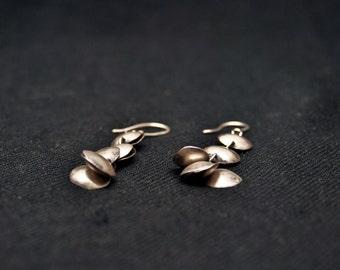 Sterling Silver Cymbal Earrings