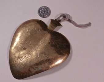 Vintage Large Sacred Heart Mexican Milagro with Original Ribbon