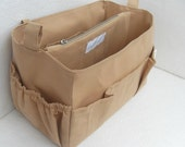 Purse organizer Fits large Longchamp Le Pliage- Bag organizer insert in Sand