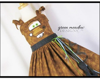 Tow Mater Cars Character Dress