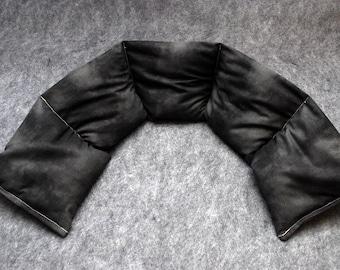 Neck Heating Pad Microwaveable Corn Bag -- Marbled Black, 5x30
