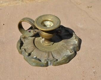 Vintage ornate single candle holder