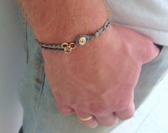 Men's jewelry, Men's bracelet, Men's jewelry gift, Men's cotton bracelet, Braided Bracelet, Boho bracelet, Fathers day gift, Boyfriend gift