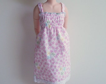 Azone Pure Neemo/ Monster High Doll/ MHD Pink Floral Strappy Shirred Sundress