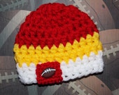 Kansas City Chiefs inspired baby hat - team sports - sports props - made to order