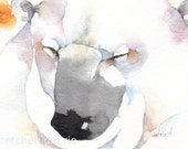 POLAR BEAR aceo PRINT watercolor giclee 'Bear Blessing' - Free Shipping