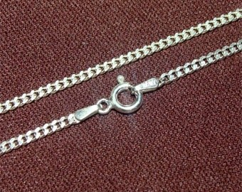 """22"""" Medium Heavy Weight 060 Curb STERLING Neck Chain"""