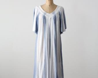 FREE SHIP  1970s gauze dress, vintage tie dye hippie sundress