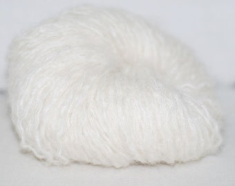 Off White Mohair Recycled Yarn, 226 yards, Bulky Weight