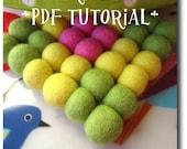 How to make felt ball trivet- PDF TUTORIAL- Felt ball pot holder DIY