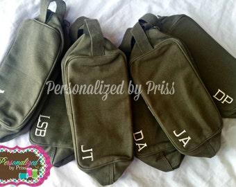 Men's Army Style Travel Kit Toiletry Bag Groomsman Gifts (Set of 5) RUSH ORDER