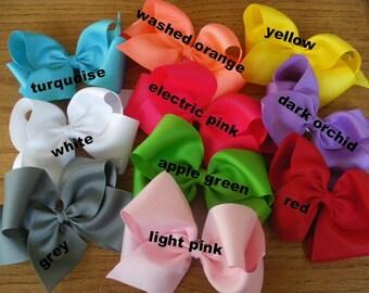 5  Extra Large Grosgrain  Boutique Bows  - You pick the colors