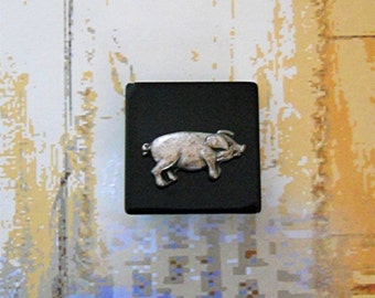 One-Of-A-Kind Piglet Brooch