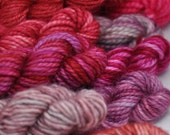 Truly Pink - Set of 15 Sock Yarn Mini Skeins