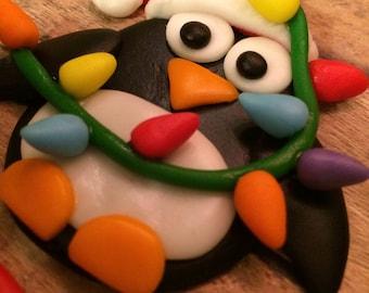 EDIBLE (Fondant Toppers) - Penguin Fun