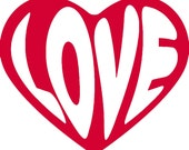 Love Heart Vinyl Decal F26