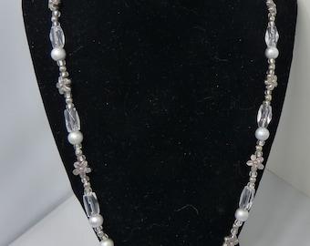 Versatile Silver Bead Necklace