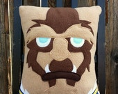 Beast pillow, plush, cushion, gift