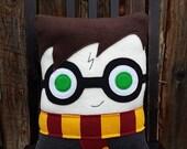Boy wizard, wizard, pillow, plush, cushion, Harry