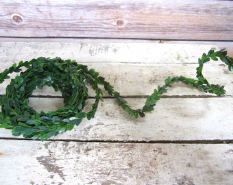 Miniature Boxwood Wired Garland 1 yard 3 feet Christmas dollhouse decoration