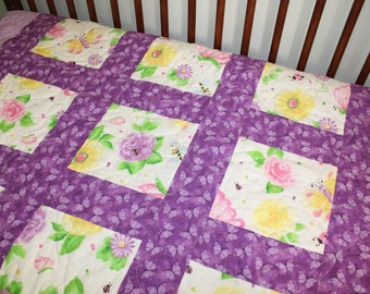"Quilt entitled ""The Garden Path"""