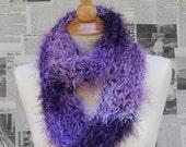 An Infinitely Fuzzy Scarf - Shades of Purple