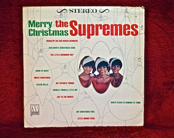 CHRISTMAS...The SUPREMES - Merry Christmas the Supremes - 1965 Vintage Vinyl Record Album