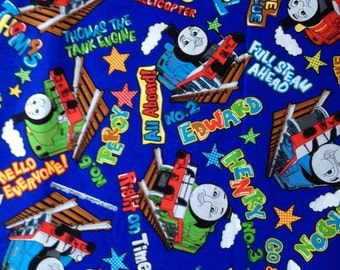 Thomas the train  fabric Blue colour half  yard Special offer
