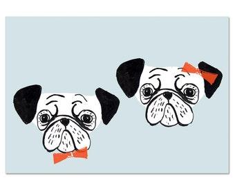 4 pug cards