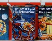 Boy's Room Plaques Retro Sci Fi, from 1950's Tom Swift Books