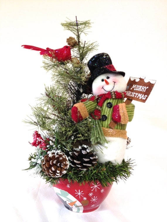 Items similar to snowman arrangement holiday winter