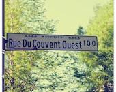 Photograph, Louisiana street sign, French street sign, La Route,  fine art print