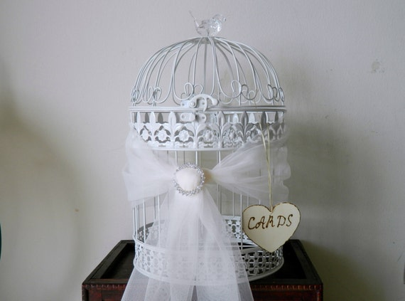 Bird Cage Wedding Card Holder Wedding Gift Cards Holder wood sign ...